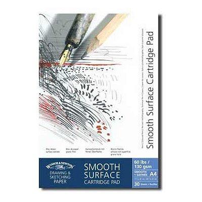Bloco Winsor e Newton Smooth Surface para Desenho Realista 130g A4