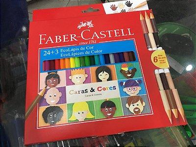Estojo Lançamento Faber Castell 24 + 3 (Tons de Pele)