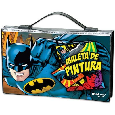 Maleta de Colorir Escolar Kit Pintura Menino Batman 72 cores