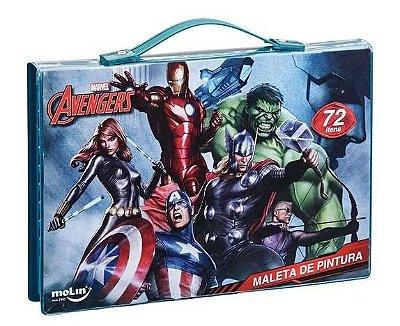 Maleta Pintura Infantil Avengers 42 Itens