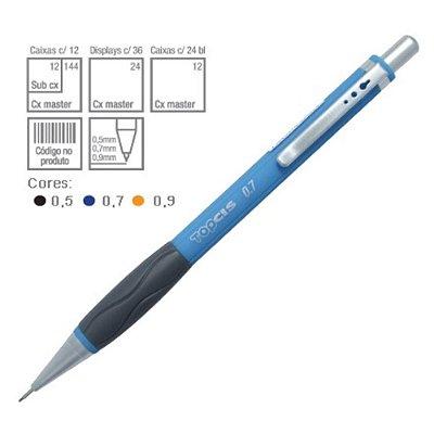 Lapiseira Top Cis 0.7mm Azul |03 Unidades