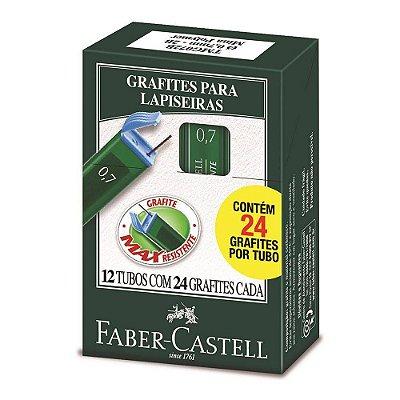 Grafite 0,7mm HB 12 tubos com 24 unidades Faber-Castell