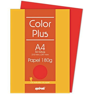 Papel Color Plus A4 180 g ( Folha Avulsa )
