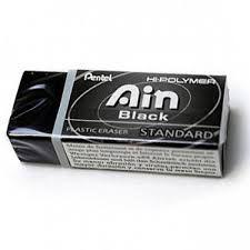 Borracha Plástica Pentel Ain Black Standard