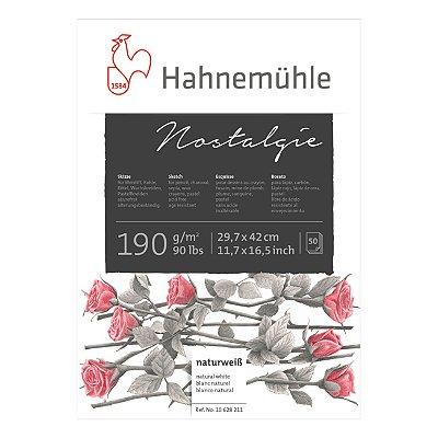 Bloco Nostalgie 190g A3 50fls 10628211 Hahnemuhle
