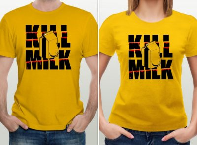 Camiseta Kill Milk - por @zhion