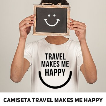 Banner Camiseta travel make me happy