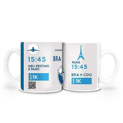 Caneca - Bilhete Aéreo Paris