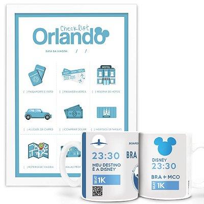 Kit - Caneca Meu destino é Orlando + Poster Checklist