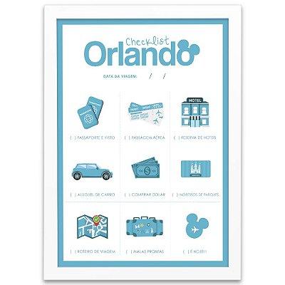 Postêr Checklist para Orlando