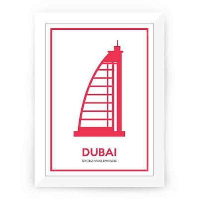 Pôster Dubai com moldura