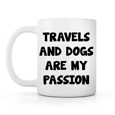 Caneca viagens e cachorros