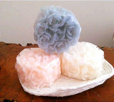 sabonete em barra artesanal flor de cerejeira- 60g