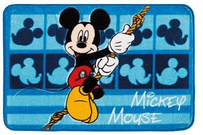 Tapete Jolitex Raschel Infantil 70 x 1,10M Base Antiderrapante e 1CM Espessura Mickey