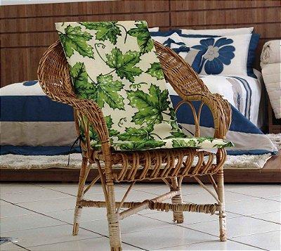 Assento para Cadeira de Área - Floral Verde