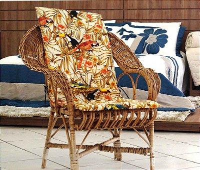 Assento para Cadeira de Área - Floral Tucano