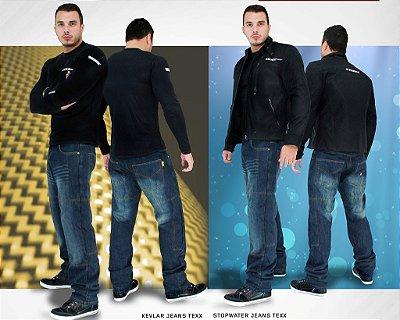Calça jeans impermeável motociclista TEXX STOPWATER