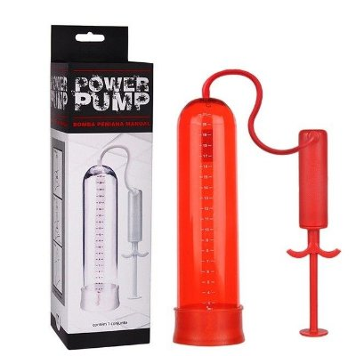 Bomba Peniana Seringa Manual Vermelha Power Pump
