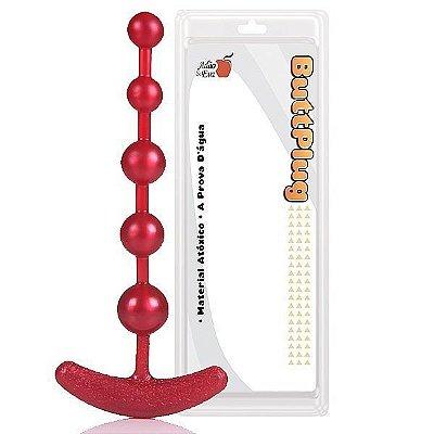 Plug Anal Pure Beads 18cm Vermelho
