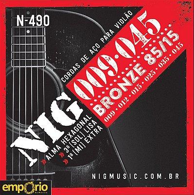 Encordoamento NIG 009 para Violão Aço