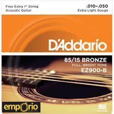Encordoamento Daddario 010 - EZ900 - para Violão Aço