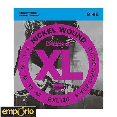 Encordoamento Daddario 009 - EXL120 - para Guitarra