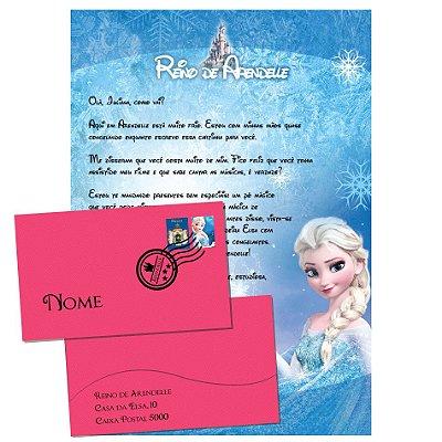 Cartinha da Elsa Frozen + Kit de Brindes da personagem