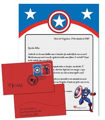 Cartinha do Capitão América + Brinde