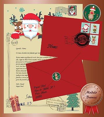 Carta do Papai Noel - Modelo Bronze - FRETE GRÁTIS