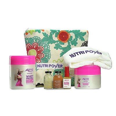 Kit Hidratação MFitness - Compre o kit e ganhe Necessaire + Toalhinha Nutripower