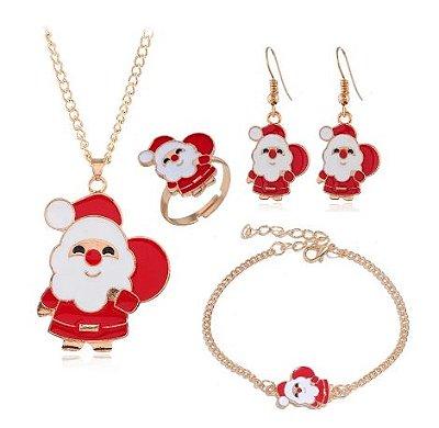 Kit de bijuterias do Papai Noel