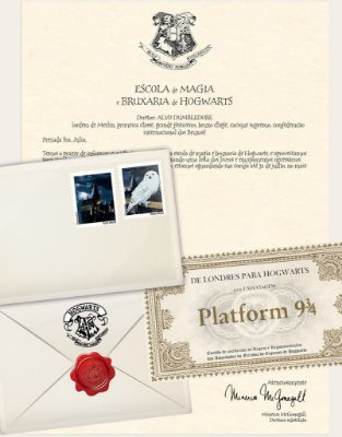 Cartinha Harry Potter | Bilhete Plataform 9 3/4 de BRINDE!