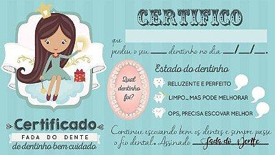 Certificado da Fada do Dente