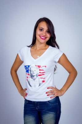 Camiseta Marilyn Monroe Americana