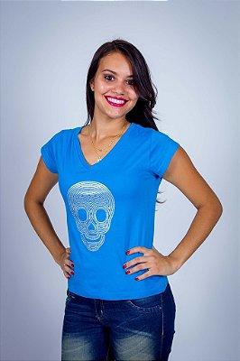 Camiseta Prateada Risco e Brilho
