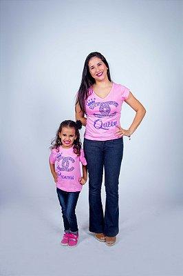 Kit Camisetas Tal Mãe Tal Filha Rainha e Princesa