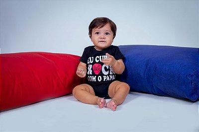Body Infantil Eu Curto Rock
