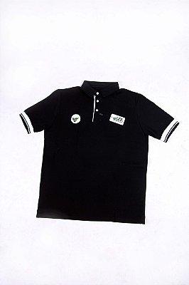 Camisa Polo Preta Logo Destacado