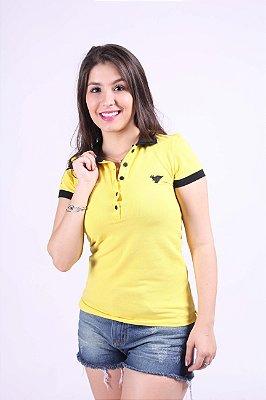 Camisa Polo Feminina Amarela