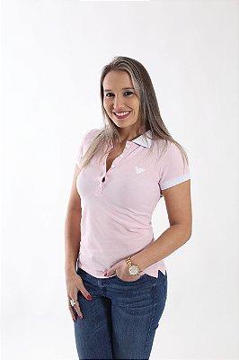 Camisa Polo Feminina Rosa