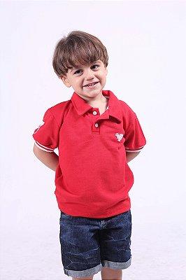 Camisa Polo Infantil Masculina Vermelha