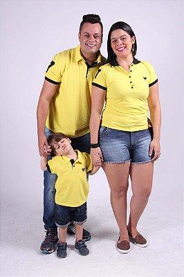 Kit Família Polos Amarelas