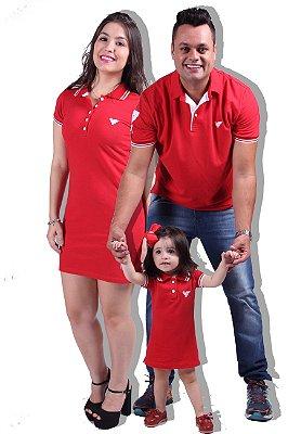 PAIS E FILHOS > Kit 03 Peças Vermelhas Para a Família [Coleção Família]