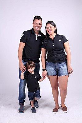 PAIS E FILHOS > Kit 3 peças Camisas Polo Preto [Coleção Família]