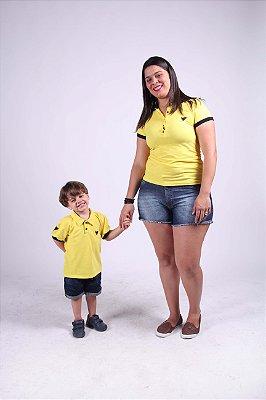 Kit Polos Amarelas Tal Mãe Tal Filhos