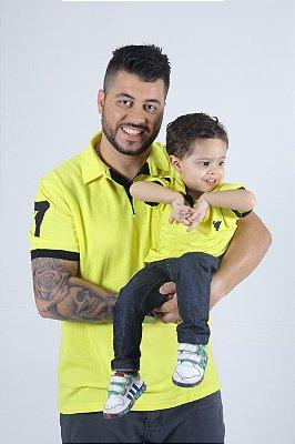 PAI E FILHO > Kit 02 Camisas Pólo Amarela [Coleção Tal Pai Tal Filho]