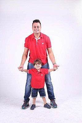 PAI E FILHO > Kit 02 Camisas Pólo Vermelhas [Coleção Tal Pai Tal Filho]