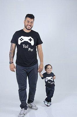 PAI E FILHO > Kit 02 Camisetas Pretas Video game [Coleção Tal Pai Tal Filho]