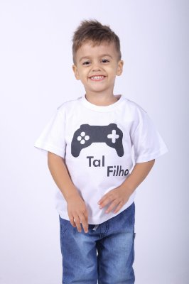 Camiseta Infantil Game Branca