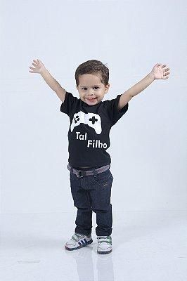 Camiseta Infantil Game Preta